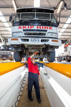 Truck-servicing